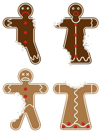 gingerbread: Eaten Gingerbread Men Illustration