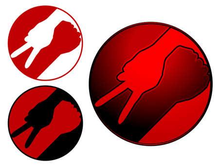 Oorlog en vrede symbool Stock Illustratie