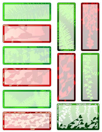 Christmas greenery gift tags Ilustracja