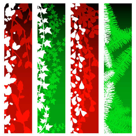 berry: Christmas greenery banners