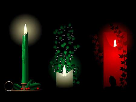 Christmas candles Zdjęcie Seryjne - 8257401