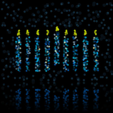 Defocused light menorah Illustration