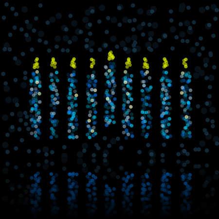 Defocused light menorah Vectores