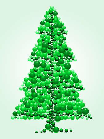 Bead Christmas tree Ilustracja