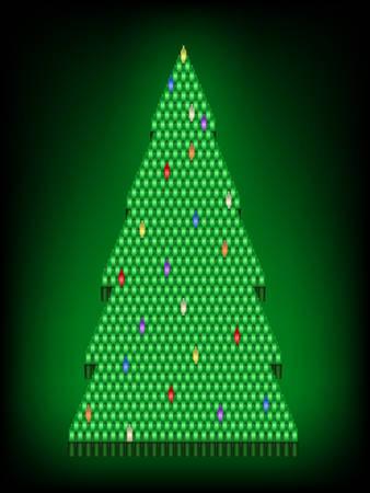 Light Christmas tree Ilustrace