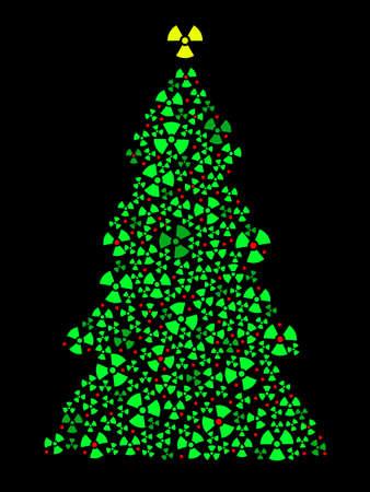 Radioactive Christmas tree Illusztráció
