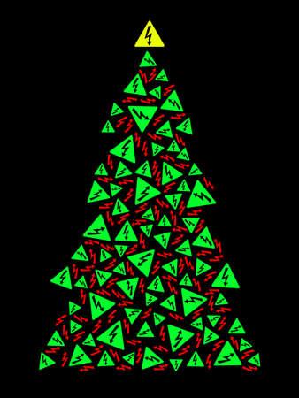 Albero di Natale ad alta tensione Archivio Fotografico - 8380334