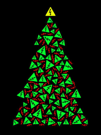 high: High voltage Christmas tree