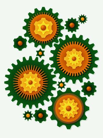 Gear bouquet Ilustração