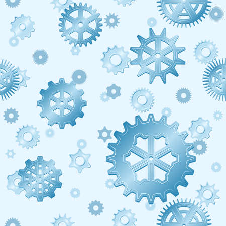 Seamless gear snowfall Vector