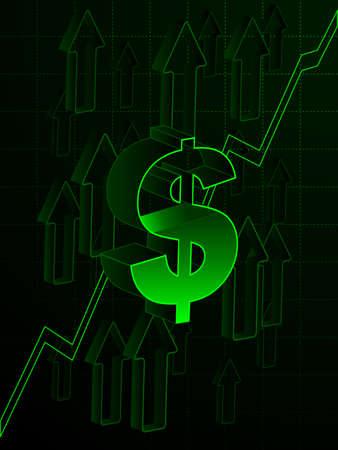 Rising economy Banco de Imagens - 8502513