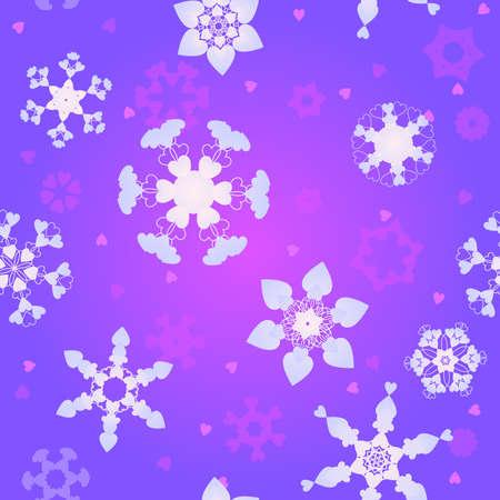 雪を愛する  イラスト・ベクター素材
