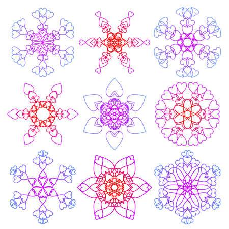 Snowflakes of love