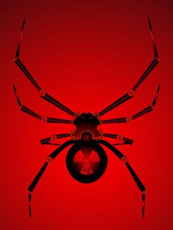 Procesamiento de araña mecánica Ilustración de vector