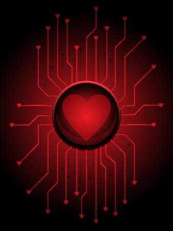 Liefde circuitry Stock Illustratie