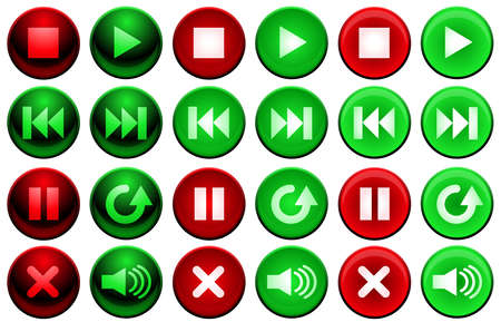 Shiny player buttons Vector