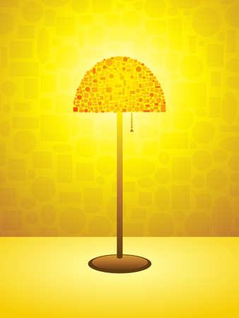 Gold Retro lamp background Stock Vector - 8756354