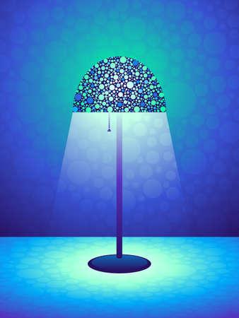 Blue Retro lamp achtergrond