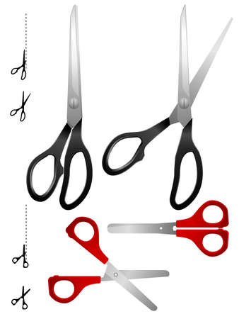 Scissors set Çizim