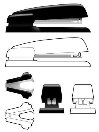 staple: Stapler and staple remover Illustration