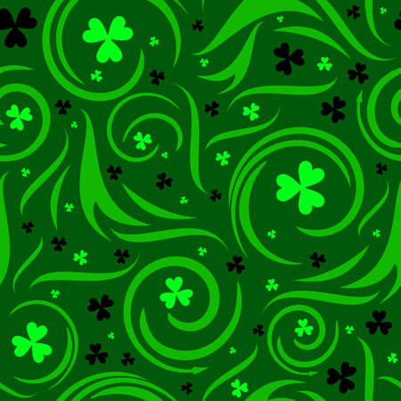 Seamless shamrock background Vector