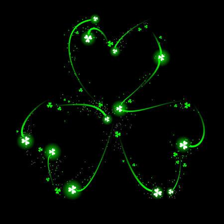 lucky clover lucky: Fireworks shamrock