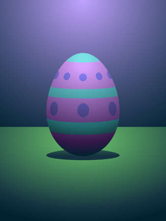 Dramatically lit easter egg Vector