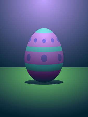 Dramatically lit easter egg
