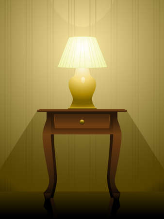 furniture: Lamp on a table