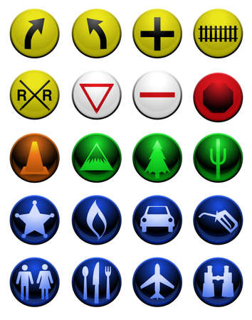 Shiny map icons Vector