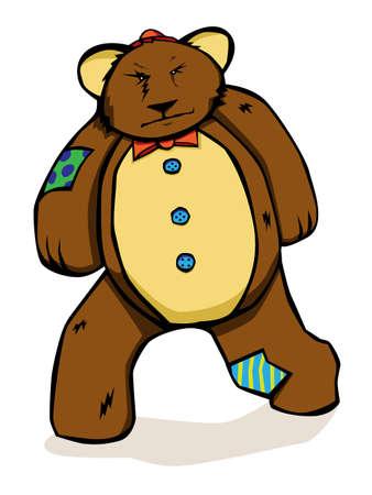 grumpy: Patches the grumpy Teddy bear