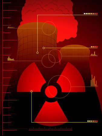 poison symbol: Radiation leak background Illustration