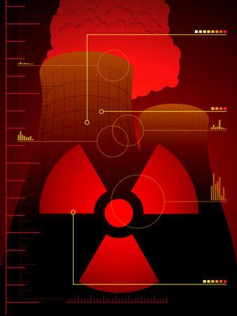 meltdown: Radiation leak background Illustration