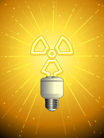 Atomic powered lightbulb Illustration