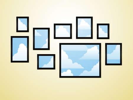 Framed sky 일러스트