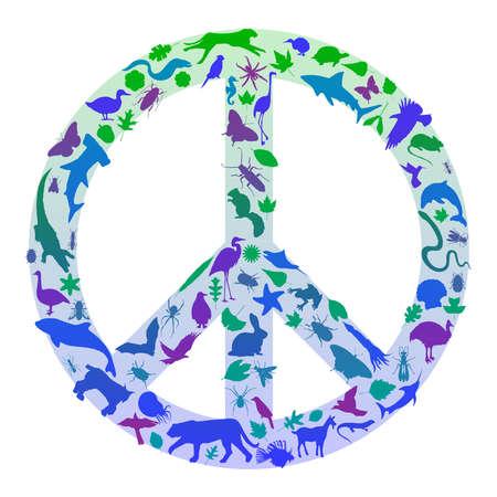 symbol peace: Signo de paz de la naturaleza Vectores