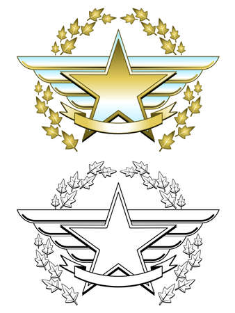 Gold star medal Stock Vector - 9345176