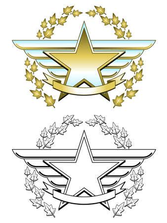 Medaglia d'oro stella Archivio Fotografico - 9345176