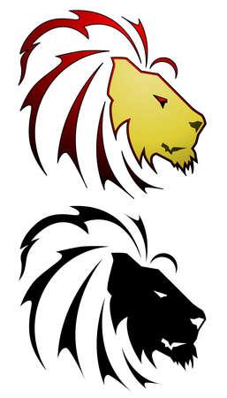 Lion tattoo Stock Illustratie