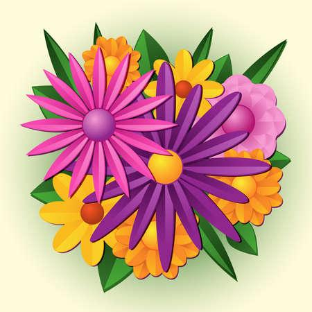 spring: Flower bouquet Illustration