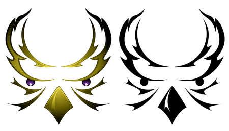 フクロウの頭のタトゥー