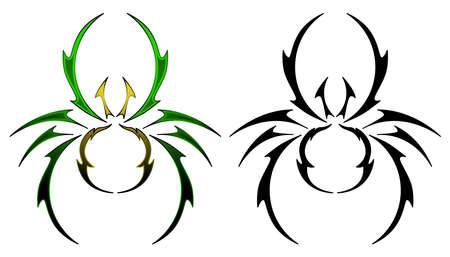 Spider tattoo design Stock Vector - 9424501