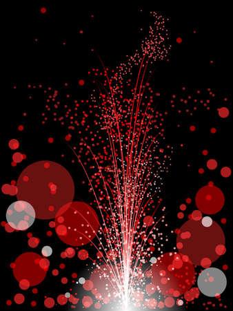 赤い多重花火