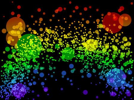 Rainbow of lights Ilustrace