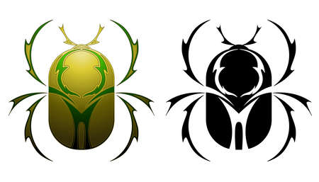escarabajo: Dise�o del tatuaje escarabajo