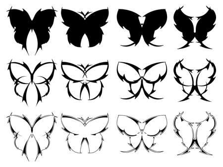 蝶のタトゥーのデザイン