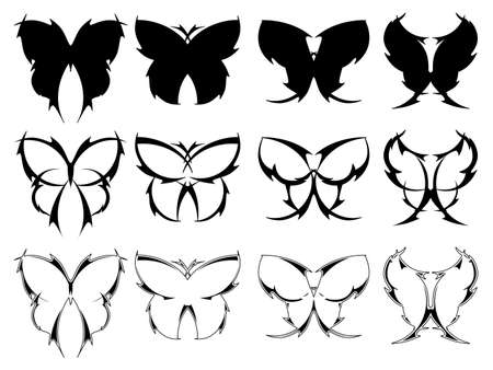 Butterfly tattoo designs Stock Vector - 9477259