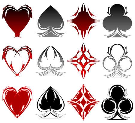 card suit: Card symbol tattoos