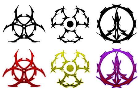 radioattivo: Tatuaggio simbolo set