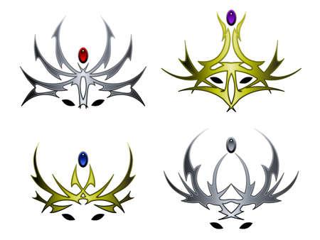 Wicked crown designs Vector